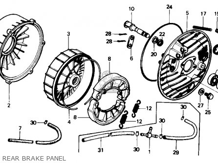 Honda Trx350 Fourtrax 4x4 1986 g Usa Rear Brake Panel