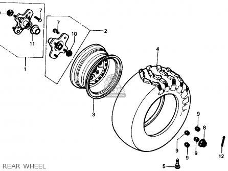Honda Trx350 Fourtrax 4x4 1986 g Usa Rear Wheel