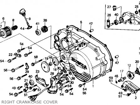 honda trx350 fourtrax 4x4 1986 g usa parts lists and schematics right crankcase cover