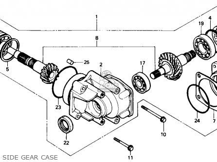Honda Trx350 Fourtrax 4x4 1986 g Usa Side Gear Case