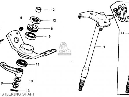 Honda Trx350 Fourtrax 4x4 1986 g Usa Steering Shaft