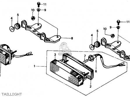 Honda Trx350 Fourtrax 4x4 1986 g Usa Taillight