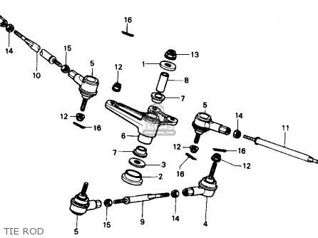 Honda Trx350 Fourtrax 4x4 1986 g Usa Tie Rod