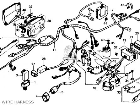honda trx350 fourtrax 4x4 1986 g usa parts lists and schematics rh cmsnl com 1986 honda fourtrax 350 4x4 wiring diagram 1986 honda fourtrax 350 wiring diagram