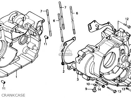 Honda Trx350 Fourtrax 4x4 1986 Usa Crankcase