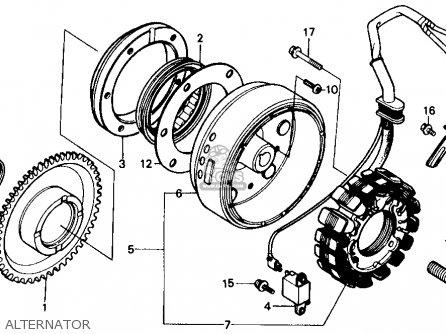 Honda Trx350 Fourtrax 4x4 1987 h Usa Alternator