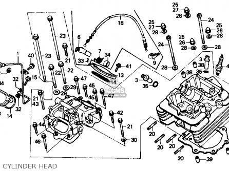 Honda Trx350 Fourtrax 4x4 1987 h Usa Cylinder Head