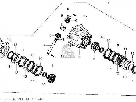 Honda Trx350 Fourtrax 4x4 1987 h Usa Differential Gear