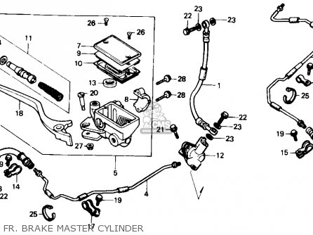Honda Trx350 Fourtrax 4x4 1987 h Usa Fr  Brake Master Cylinder