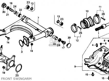 Honda Trx350 Fourtrax 4x4 1987 h Usa Front Swingarm
