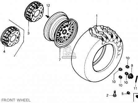 Honda Trx350 Fourtrax 4x4 1987 h Usa Front Wheel