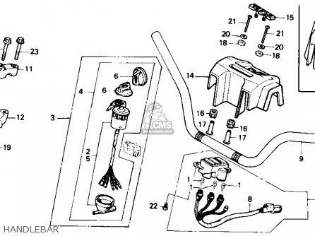 Honda Trx350 Fourtrax 4x4 1987 h Usa Handlebar