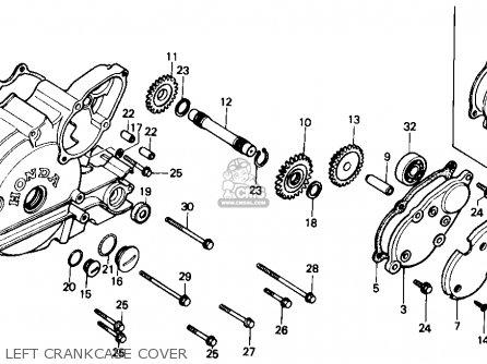 Honda Trx350 Fourtrax 4x4 1987 h Usa Left Crankcase Cover