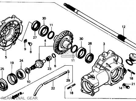 Honda Trx350 Fourtrax 4x4 1987 h Usa Rear Final Gear