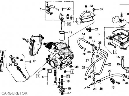 Honda Trx350 Fourtrax 4x4 1987 Usa Carburetor