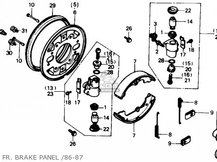 honda trx350 fourtrax 4x4 1987 usa fr brake panel 86 87_mediumhu0330f1300_65cb 2001 polaris sportsman 500 diagram 2001 find image about wiring,500 Wiring Diagram In Addition Polaris Sportsman