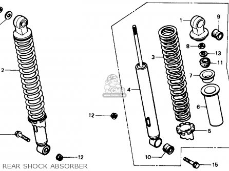 Honda Trx350 Fourtrax 4x4 1987 Usa Rear Shock Absorber