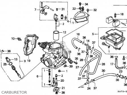 Honda Trx350d Fourtrax 1987 h Italy Sul Carburetor