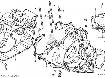 Honda Trx350d Fourtrax 1987 h Italy Sul Crankcase