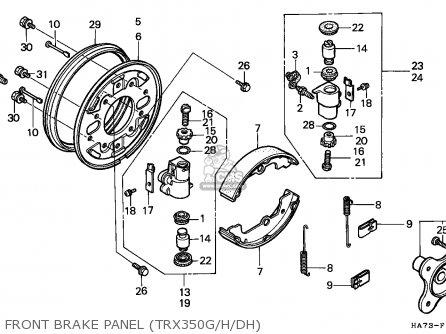 Honda Trx350d Fourtrax 1987 h Italy Sul Front Brake Panel trx350g h dh