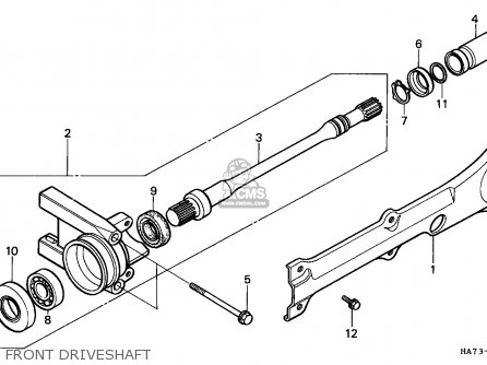 Honda Trx350d Fourtrax 1987 h Italy Sul Front Driveshaft