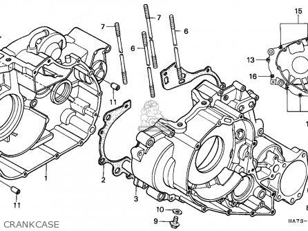 Honda Trx350d Fourtrax 1987 h Sul Crankcase