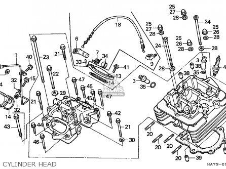 Honda Trx350d Fourtrax 1987 h Sul Cylinder Head