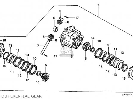 Honda Trx350d Fourtrax 1987 h Sul Differential Gear