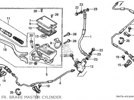 Honda Trx350d Fourtrax 1987 h Sul Fr  Brake Master Cylinder