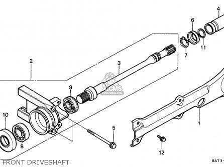 Honda Trx350d Fourtrax 1987 h Sul Front Driveshaft