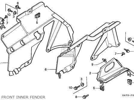 Honda Trx350d Fourtrax 1987 h Sul Front Inner Fender