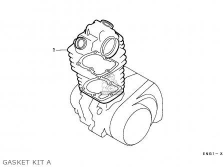 Honda Trx350d Fourtrax 1987 h Sul Gasket Kit A