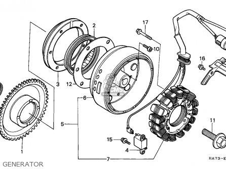 Honda Trx350d Fourtrax 1987 h Sul Generator