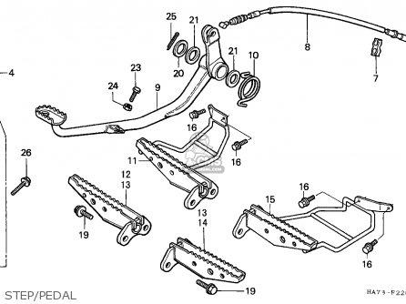 Honda Trx350d Fourtrax 1987 h Sul Step pedal