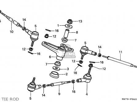 Honda Trx350d Fourtrax 1987 h Sul Tie Rod