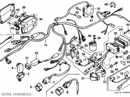 Honda Trx350d Fourtrax 1987 h Sul Wire Harness