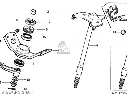 Honda Trx350d Fourtrax 1987   Sul Steering Shaft