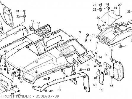 Honda Trx350d Fourtrax Foreman 4 X 4 1989 (k) Usa parts list