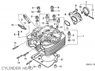 honda trx400ex sportrax 2003 (3) usa parts lists and schematics Engine Head Parts Diagram cylinder head