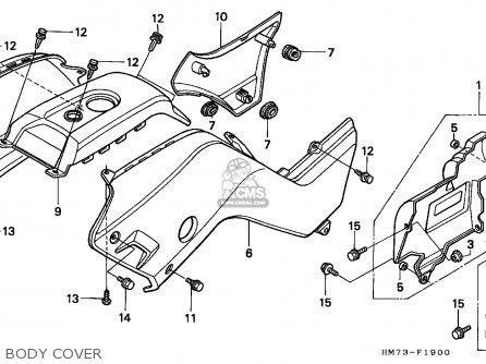 Honda Trx400fw Fourtrax 1998 W Usa Parts Lists And Schematics