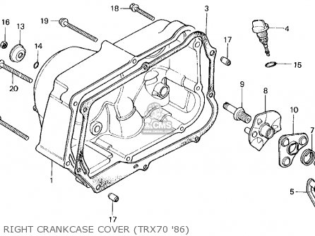 right crankcase cover (trx70 '86)