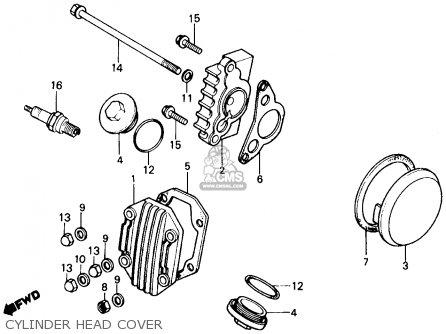 honda trx70 fourtrax 70 1987 (h) usa cylinder head cover