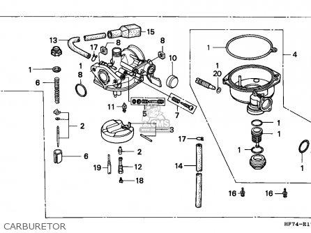 honda trx90 fourtrax 1994 (r) usa parts lists and schematicshonda trx90 fourtrax 1994 (r) usa carburetor