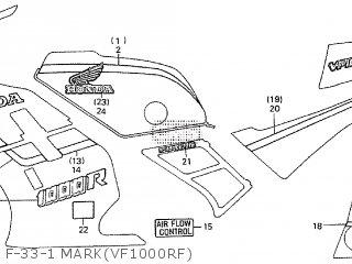 honda vf1000r 1985 f parts lists and schematics rh cmsnl com Honda CBR1000RR Fireblade Honda VF and VFR