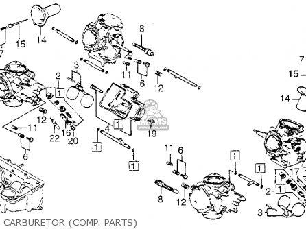 Honda Vf1100c Magna 1983 d Usa Carburetor comp  Parts