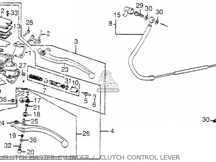 Honda Vf1100c Magna 1983 d Usa Clutch Master Cylinder    Clutch Control Lever