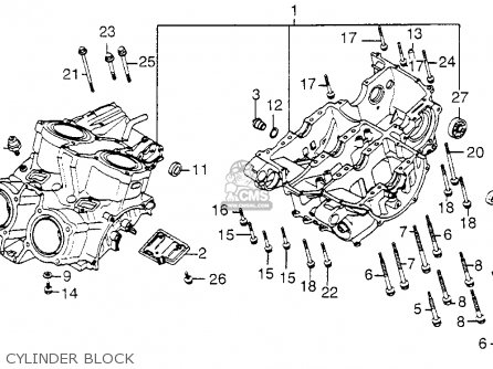 Honda Vf1100c Magna 1983 d Usa Cylinder Block