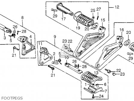 Honda Vf1100c Magna 1983 d Usa Footpegs