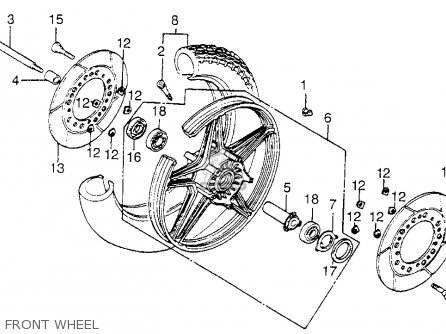 Honda Vf1100c Magna 1983 d Usa Front Wheel