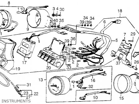 Honda Vf1100c Magna 1983 d Usa Instruments